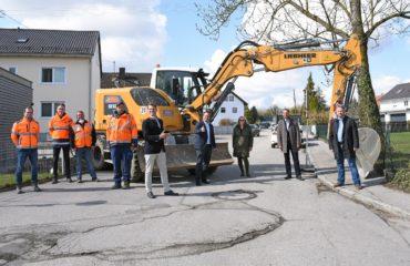 Baubeginn in der Sägmühlstraße